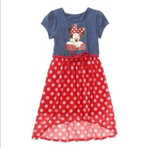 Disney Minnie Mouse high low dress